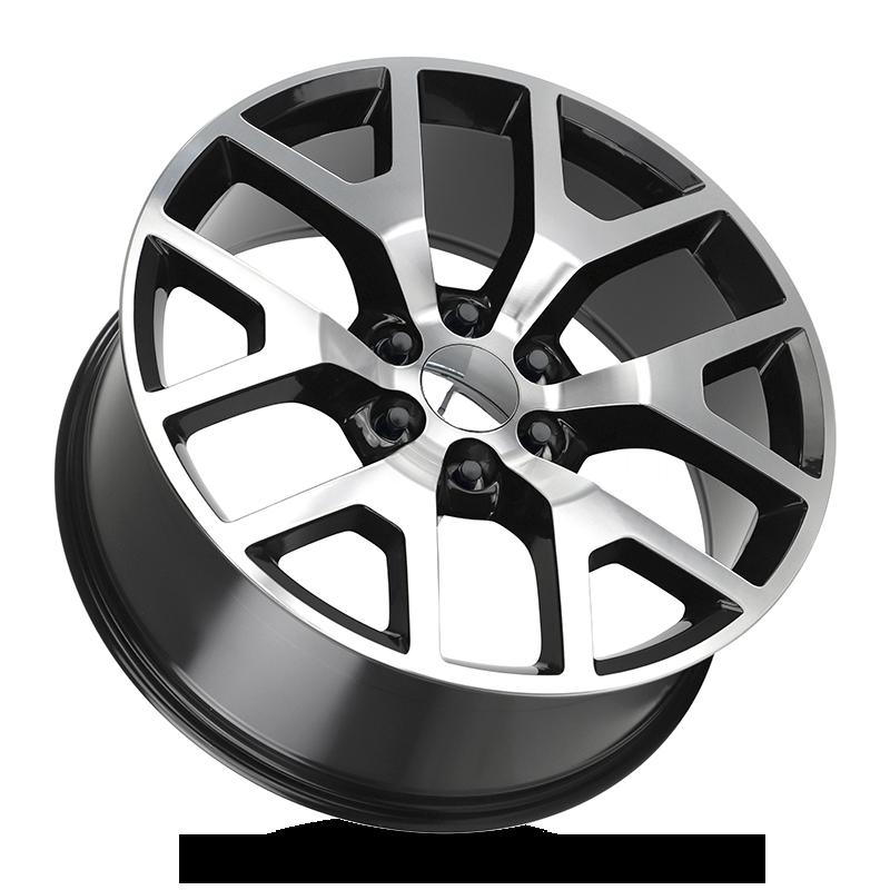 Strada OE Replica GNC Sierra All Gloss Black Machined