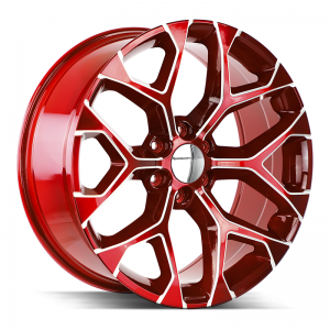 Strada OE Replica Snowflake Candy Red Milled