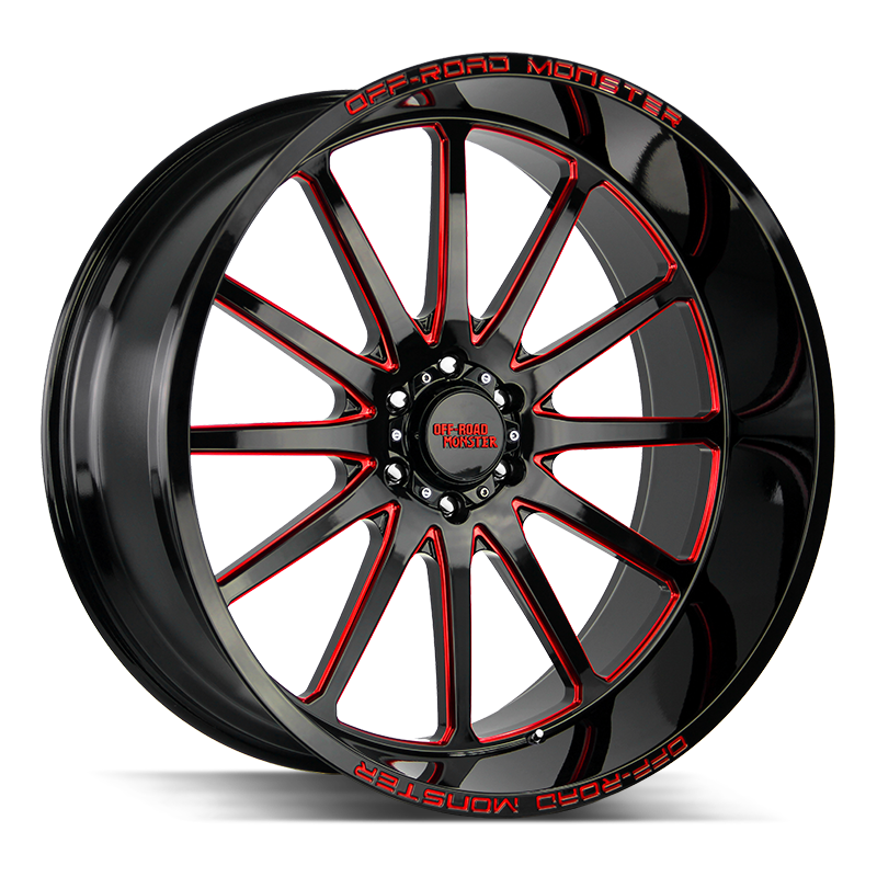 Off-Road Monster M26 Gloss Black Candy Red Milled