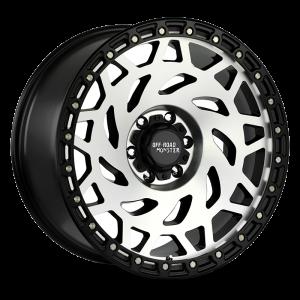 Off-Road Monster M50 Wheel - Gloss Black Machined