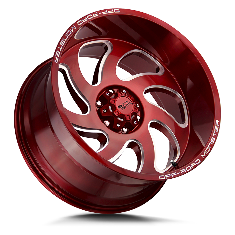 The M07 Wheel by Off Road Monster in Candy Red