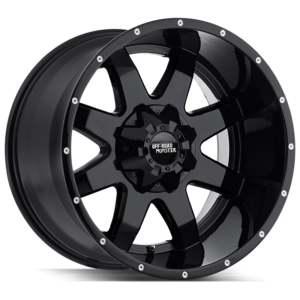 The M08 Wheel by Off Road Monster in All Gloss Black