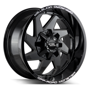The M09 Wheel by Off Road Monster in All Gloss Black