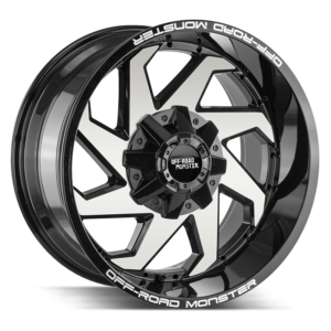 The M09 Wheel by Off Road Monster in Gloss Black Machined
