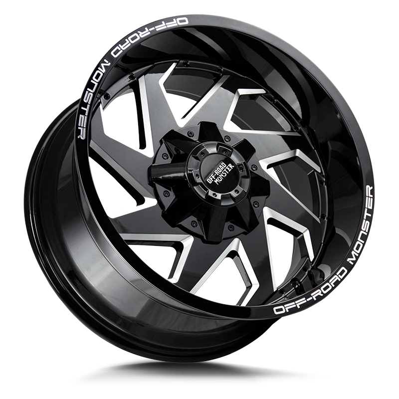 The M09 Wheel by Off Road Monster in Gloss Black Milled