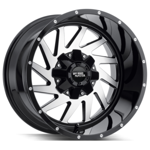 The M12 Wheel by Off Road Monster in Gloss Black Machined