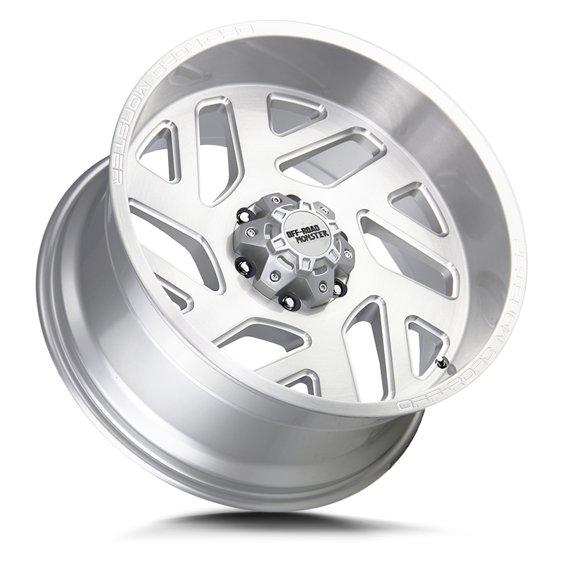 The M19 Wheel by Off Road Monster in Brushed Silver Milled