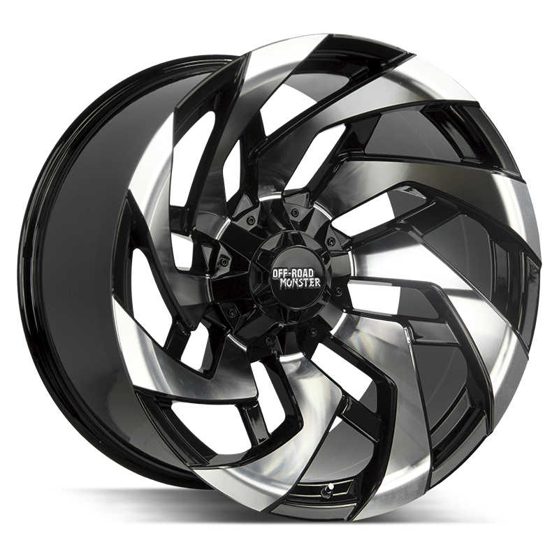 The M24 Wheel by Off Road Monster in Gloss Black Machined