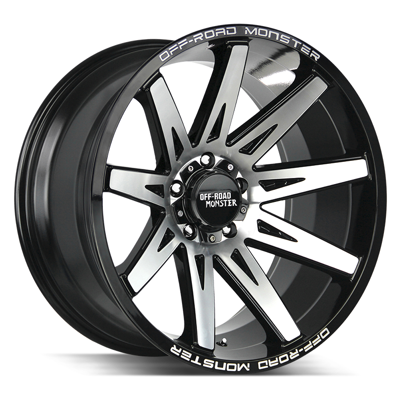The M25 Wheel by Off Road Monster in Gloss Black Machined
