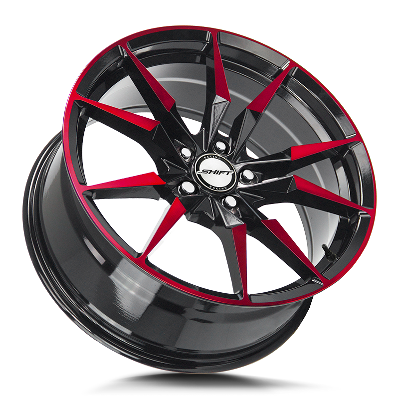 The Blade Wheel by Shift in Gloss Black Candy Red Machine