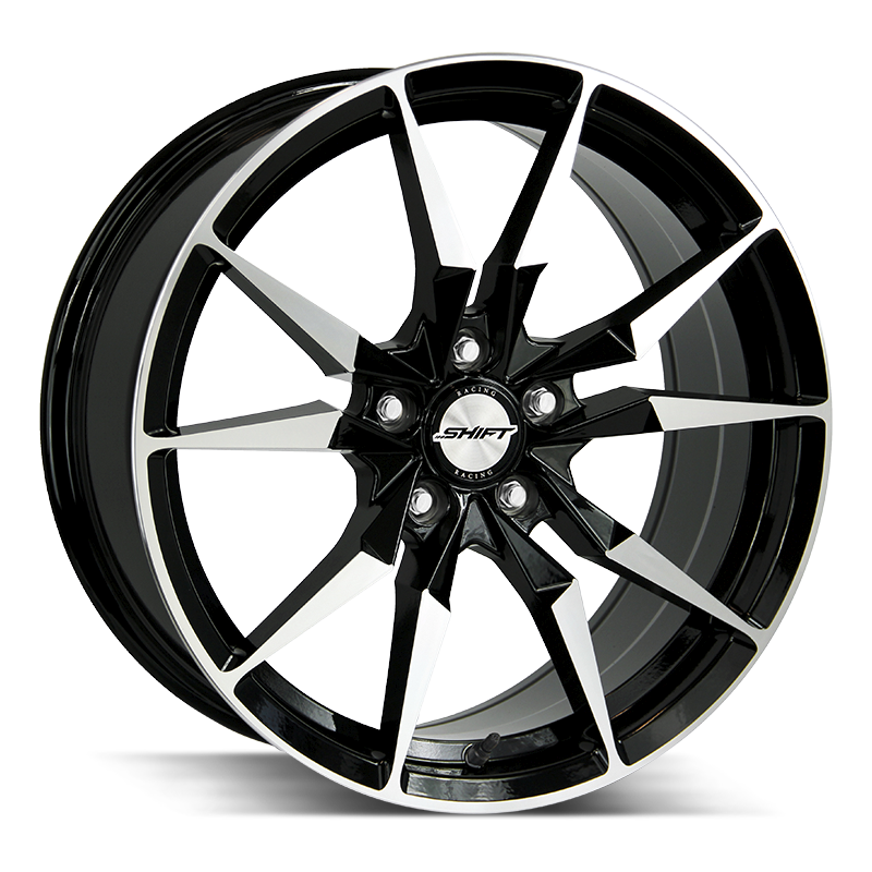 The Blade Wheel by Shift in Gloss Black Machined