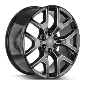 The GMC Sierra Wheel by Strada OE Replica in Gloss Black Milled