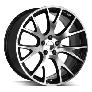The Hellcat Wheel by Strada OE Replica in Gloss Black Machined