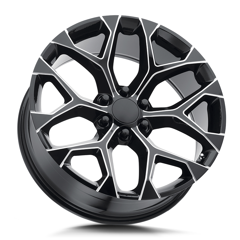 The Snowflake Wheel by Strada OE Replica in All Gloss Black