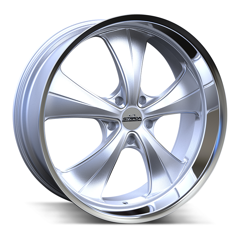 The Old Skool Wheel by Strada Street Classics in Brushed Face Silver Milled Ss