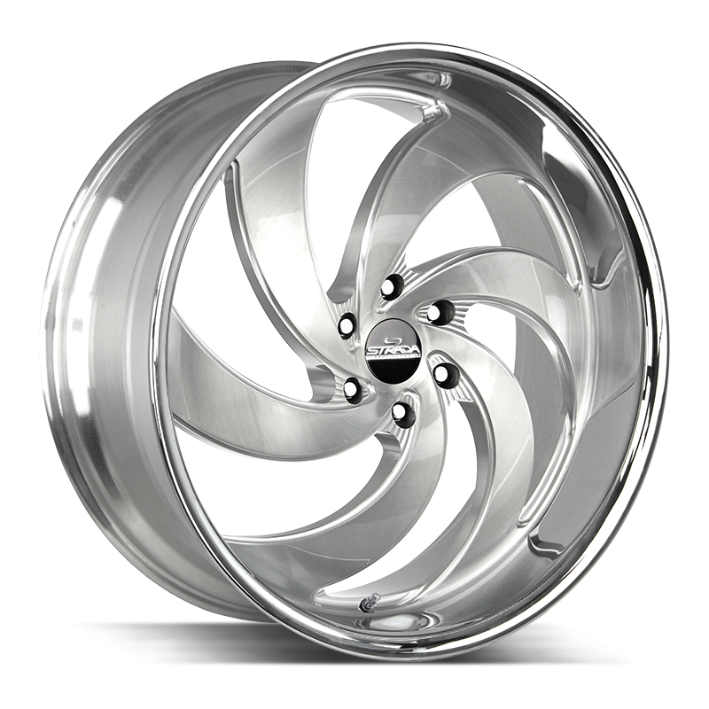 The Retro 6 Wheel by Strada Street Classics in Brushed Face Silver Milled SS