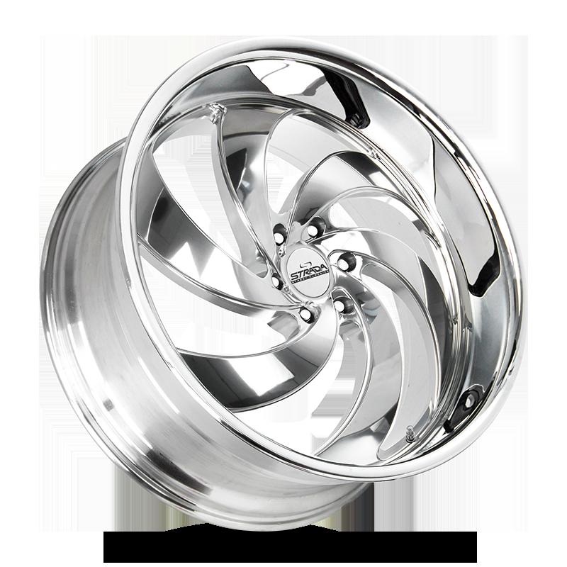 The Retro 6 Wheel by Strada Street Classics in Chrome