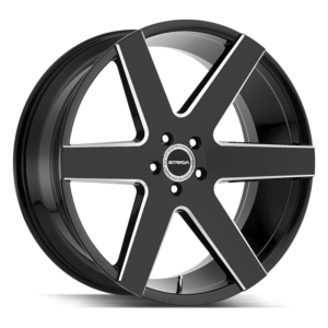 The Coda Wheel by Strada in Gloss Black Milled