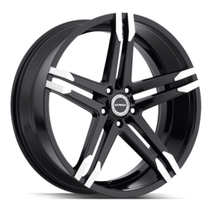 The Domani Wheel by Strada in Gloss Black Machined