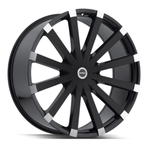 The Gabbia Wheel by Strada in Gloss Black Machined Tips