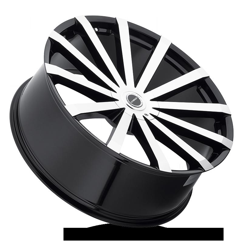 The Gabbia Wheel by Strada in Gloss Black Machined