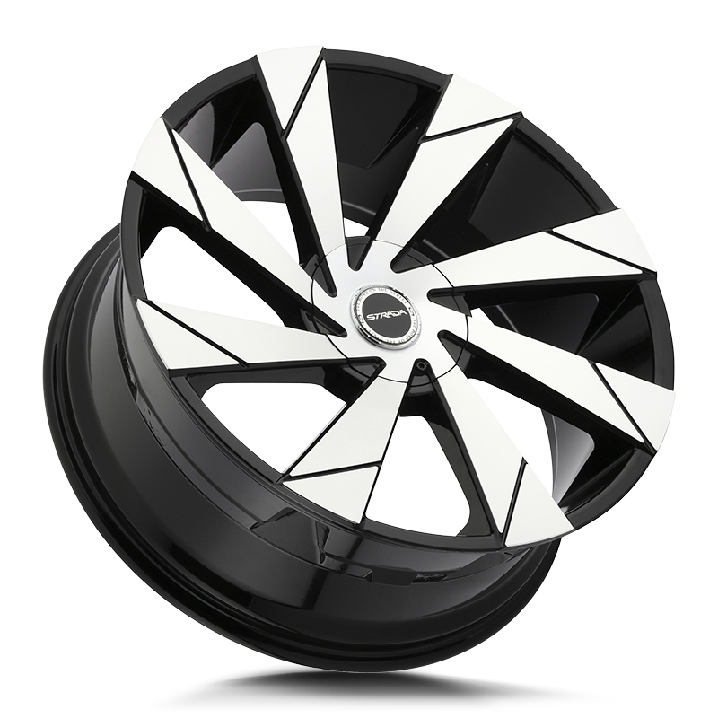 The Moto Wheel by Strada in Gloss Black Machined