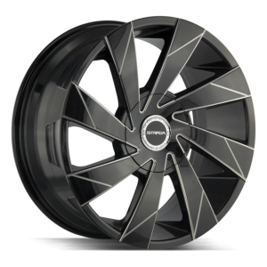 The Moto Wheel by Strada in Gloss Black Milled Edge Spoke