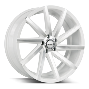 The Sega Wheel by Strada in White Machined
