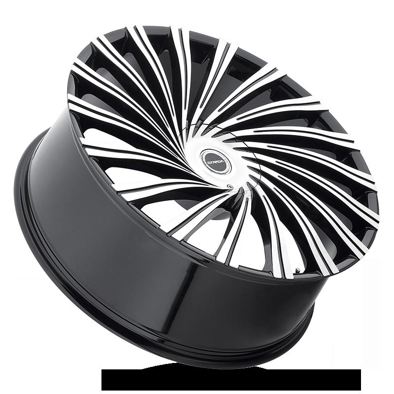 The Tornado Wheel by Strada in Gloss Black Machined