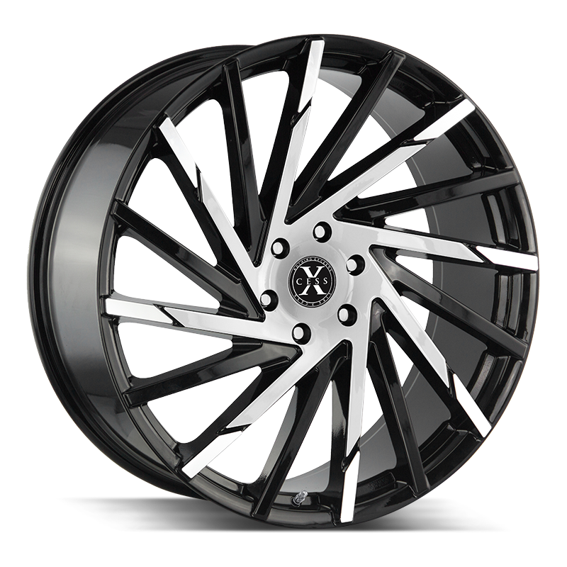 The X02 Wheel by Xcess in Gloss Black Machined
