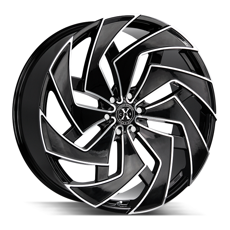 The X04 Wheel by Xcess in Gloss Black Milled