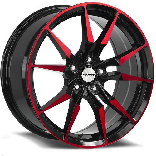 Blade Gloss Black Machined Red
