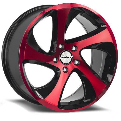 SHIFT STRUT GLOSS BLACK MACHINED RED