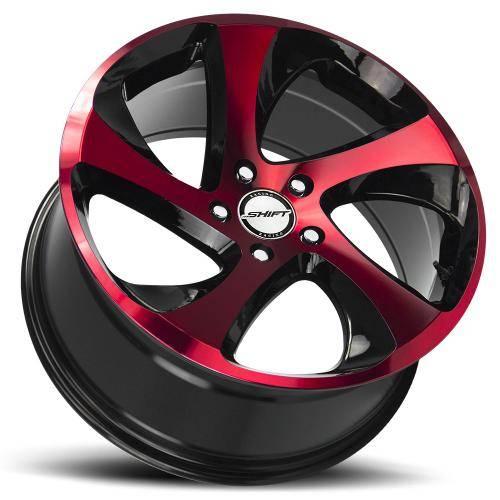 SHIFT STRUT GLOSS BLACK MACHINED RED LAY