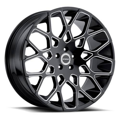 Gloss Black Milled Edge Spoke