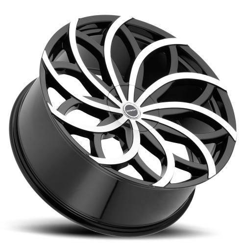 Gloss Black Machined