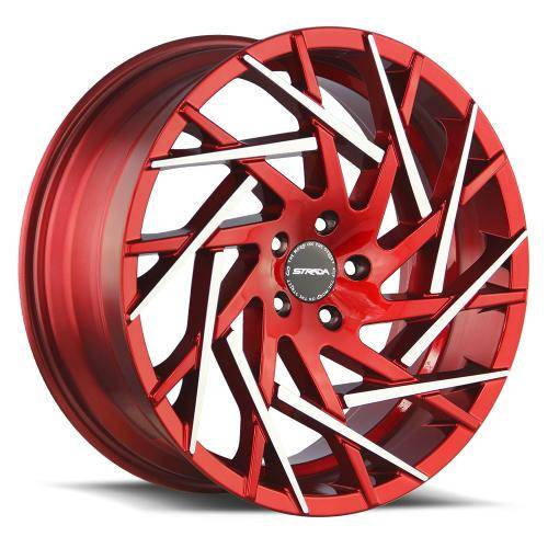 Strada Nido Candy Apple Red Machined Tips