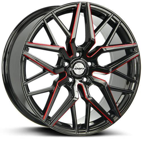 SHIFT SPRING 20 INCH GLOSS BLACK MILLED RED