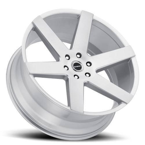 Strada coda wheel 6lug silver brushed face 24x10 Lay