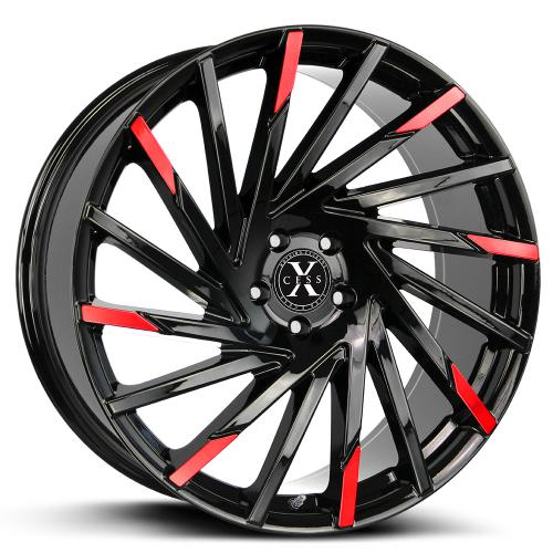 Xcess 02 Gloss Black Machined Red Tips