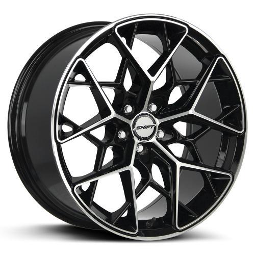 shift piston gloss black machined 18 inch