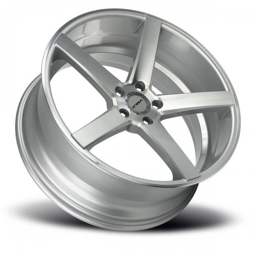 strada perfetto 20 inch 5 lug silver machined